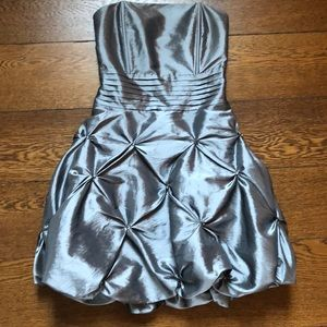 Daisy Pewter Strapless Quilted Bubble Skirt Dress